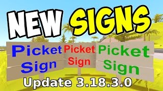 UNTURNED - NEW Picket Signs! How to Activate! (Update 3.18.3.0)