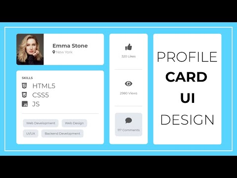 Profile Card UI Design Using HTML And CSS --  User Profile Card Design