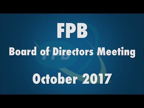 FPB Board of Directors Meeting October 2017
