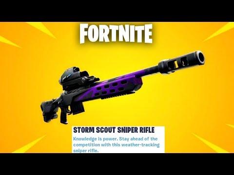 Fortnite New Storm Scout Sniper Rifle Update Countdown + Gameplay! (Fortnite New Update)