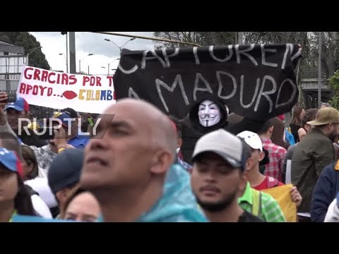 Colombia: 'Maduro, I hate you' – Venezuelan migrants rally against presidential elections