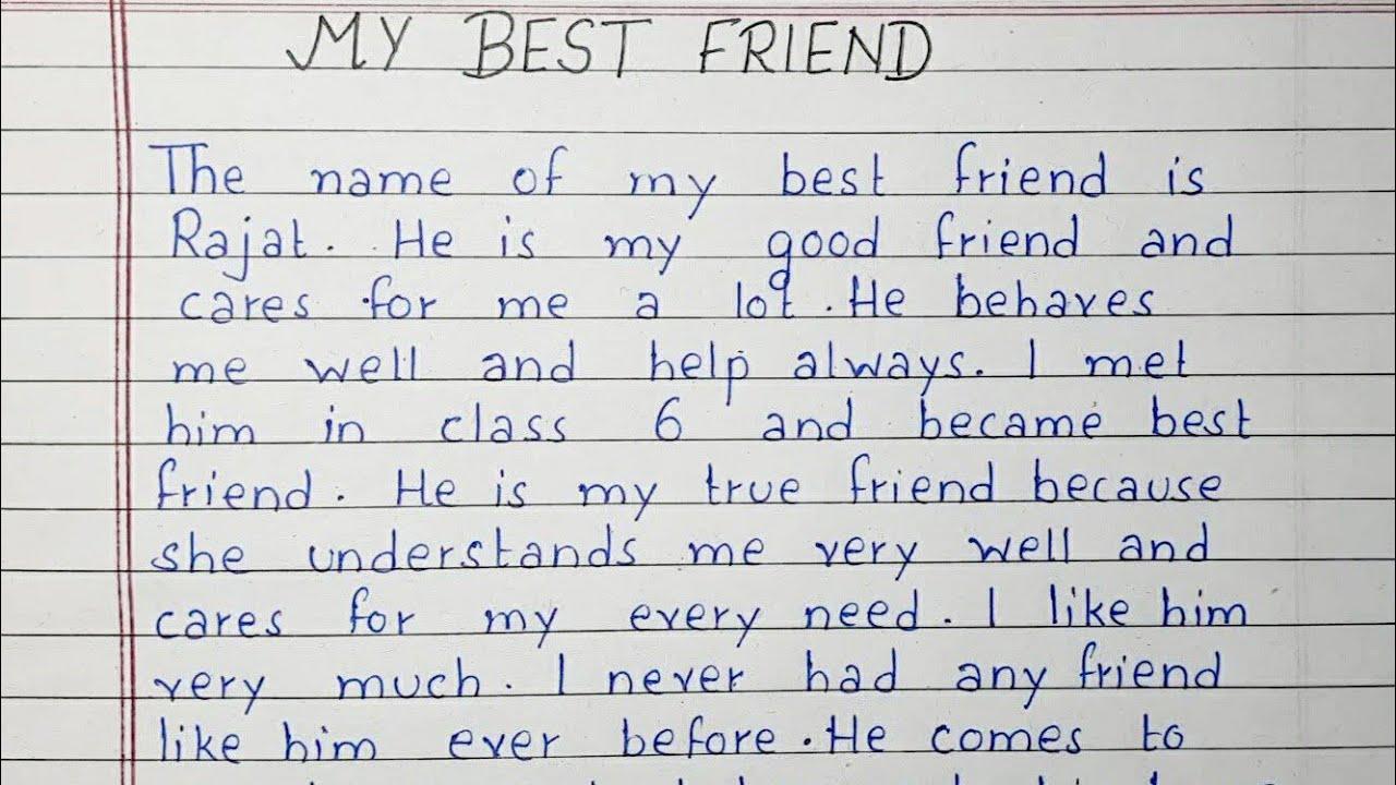 Essay best friend free essay editing