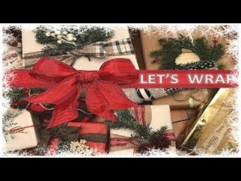 🎁Gift Wrapping IDEAS and HACKS 2018🎁Christmas Gift Wrap Rustic Pretty🎄*NEW*🎄
