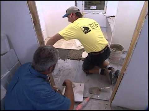 Limestone Tile Installation