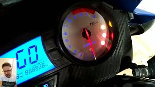 TVS Apache RTR 160 180 Petrol Warning Light क तन प ट र ल बच ह How Much Petrol You Have