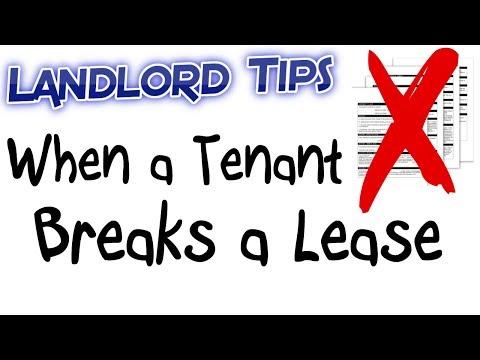 When a Tenant Breaks a Lease - Landlord Tips