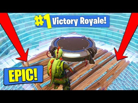 LAUNCH PAD In The SMALLEST CIRCLE In Fortnite Battle Royale!