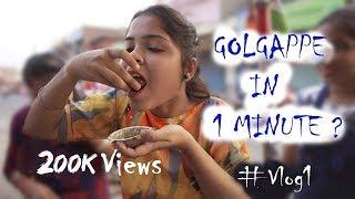 GOLGAPPA CHALLENGE | १ मिनट में कितने गोलगप्पे ??💥💥