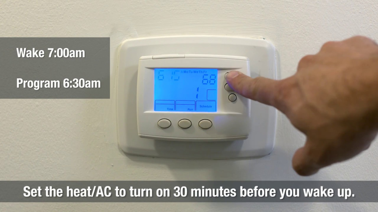 How To Use A Programmable Thermostat To Save Money