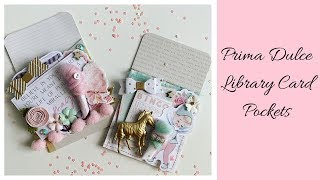 Prima Dulce Library Card Pockets