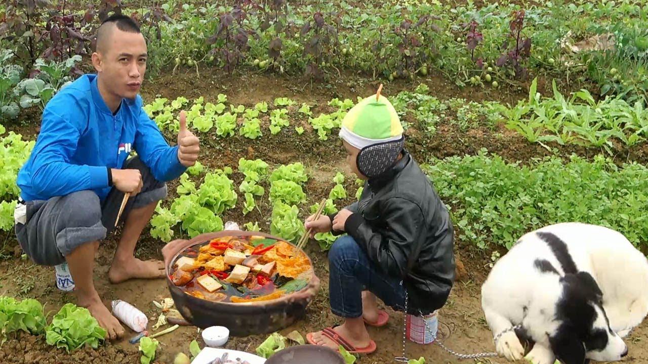 Lẩu Giữa Vườn Rau Chất Nhất Vịnh Bắc Bộ - Cười Vỡ Bụng Với Anh Em Tam Mao