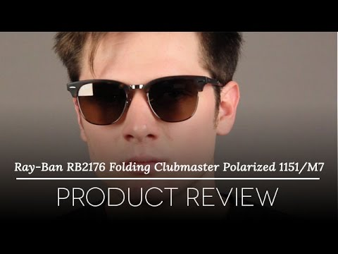 0fde6f62715 Ray-Ban RB2176 Clubmaster Folding Sunglasses Review - YouTube