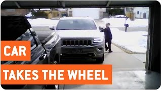 Empty Car Rolls Into Garage | Got Mail?