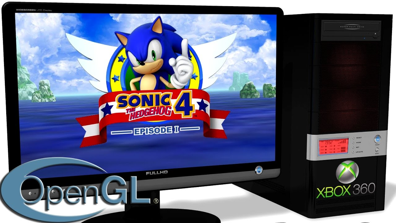 Xenia Xbox 360 Emulator Sonic The Hedgehog 4 Episode 1 2010 Gameplay Opengl Test 2 Youtube