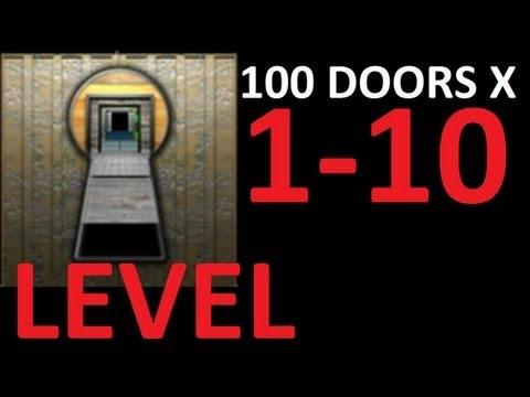 100 doors x level 1 10 walkthrough solution door 1 2 3 4 5 for 100 doors 2 door 8