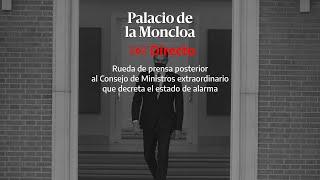 🔴  DIRECTO | Pedro Sánchez anuncia un nuevo estado de alarma