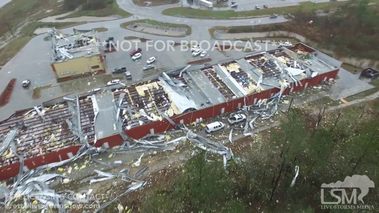 1 21 16 Petal Mississippi Aerial Tornado Damage Youtube