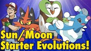 Pokémon Sun/Moon Starter Evolutions!