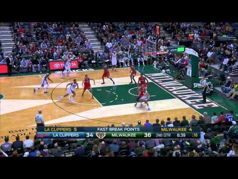 Larry Sanders Highlights Clippers vs. Bucks 12.13.2014 - 15 Points, 9 Rebounds