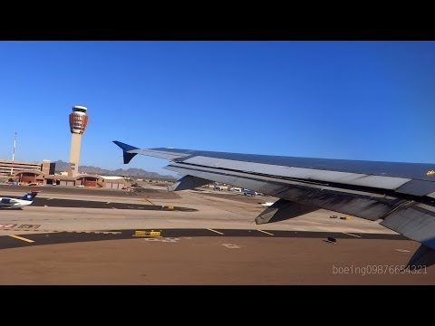 HD US Airways A320-231 Takeoff from Phoenix Sky Harbor Airport