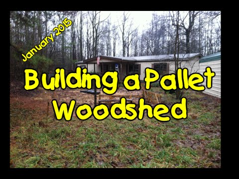 Building A Pallet Woodshed Youtube