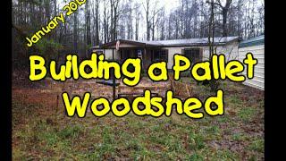 Building a Pallet Woodshed