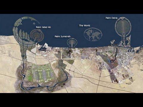 As ilhas artificiais de Dubai     NatGeo