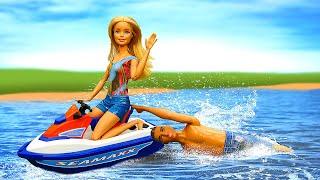 Кену строит глазки другая! Кукла Барби вшоке отизмены— Видео, как весело куклы загорали напляже