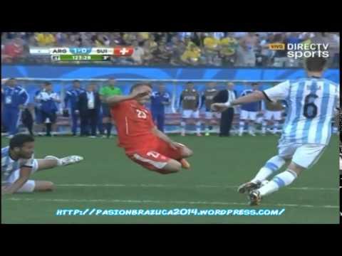 (Relato Emocionante) Argentina 1 Suiza 0 (Relato Pablo Giralt)  Octavos de Final Mundial 2014