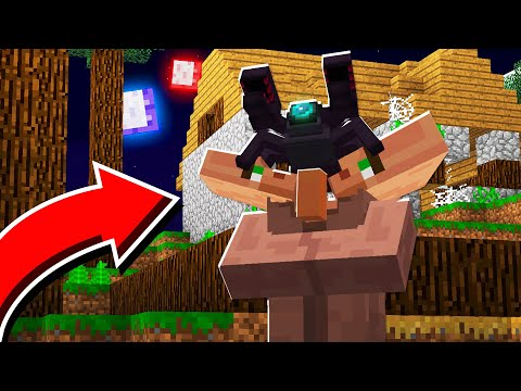 this-was-hiding-inside-a-villager-in-minecraft!-(ep3-scary-survival-season-2)