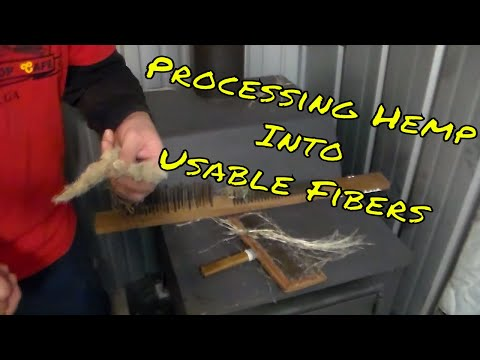 Processing Hemp Into Usable Fibers