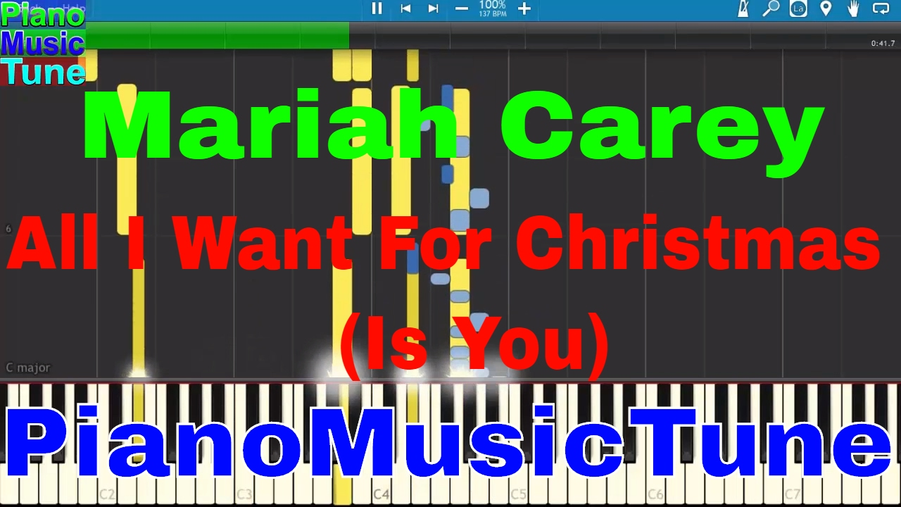 Mariah Carey - All I Want For Christmas (Is You) | MIDI Synthesia ...