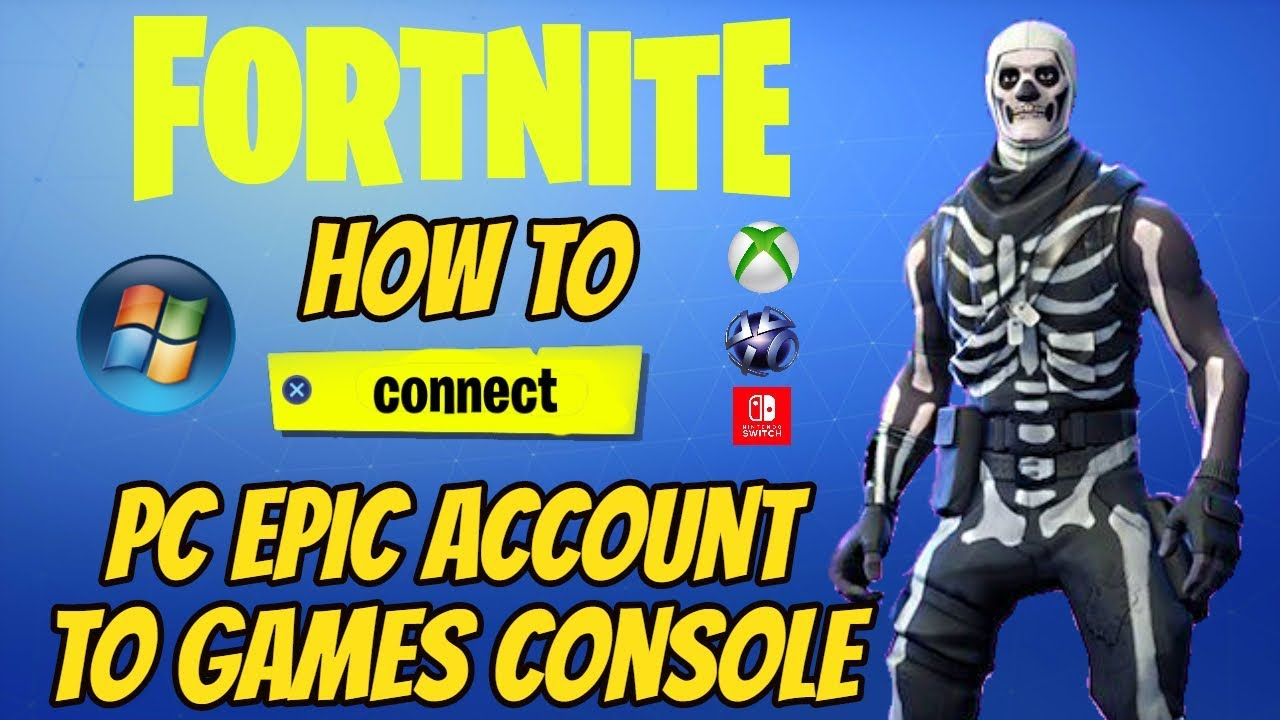 How To Connect PC Epic Games Account To Your Games Console ...