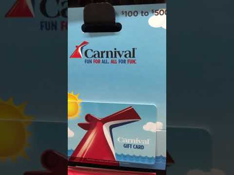 Carnival cruise Lines have gift cards now