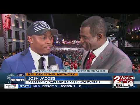 Tulsa native Josh Jacobs drafted #24 overall by Oakland Raiders