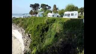 camping ar kleguer roscoff vue de la  plage et la crique