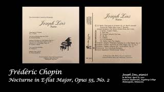 Joseph Zins Performing Chopin's Nocturne in E-flat Major, Op. 55 No. 2