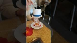 【名探偵コナンカフェ2018】キッド様のマジックソーダを飲んでみました‼ コナンカフェ 検索動画 12