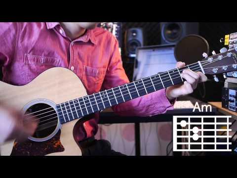 [어썸기타/ASOMEGUITAR] Lucky - Jason Mraz 기타강좌/Guitar tutorial 난이도/Level ★ ☆ ☆ ☆ ☆