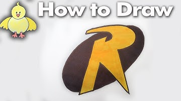 How to Draw the Robin Logo Step by Step - Easy - DoodleDrawArt!