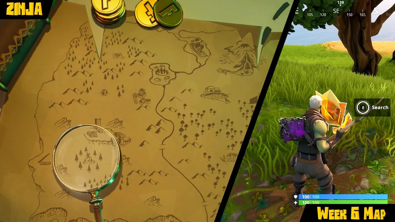 search where the knife points on treasure map loading screen fortnite - fortnite search where the knife points on the treasure map loading screen location