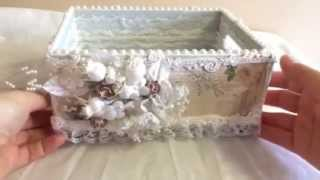 Shabby Chic Wood Crate~dt Project For Kraftsupplies4u