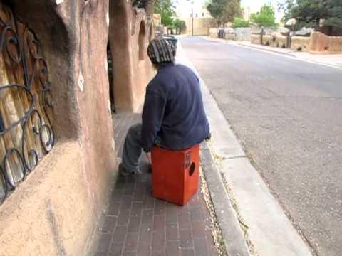 Beat Box on the streets of Santa Fe New Mexico