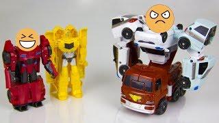 Робот Сайдсвайп шутит над тоботом Кватраном. Мультики для детей.