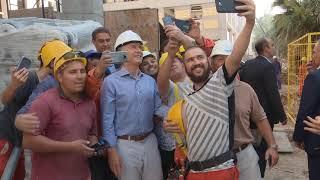 El presidente Mauricio Macri recorrió la obra del Polo Educativo Mugica