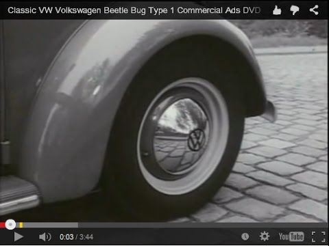 Classic VW Volkswagen Beetle Bug Type 1 Commercial Ads DVD