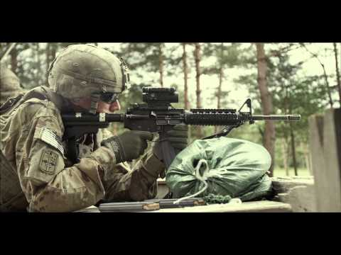 US Army Europe, 172nd Infantry Brigade M4 Rifle qualification - Soldier fires M4 Carbine