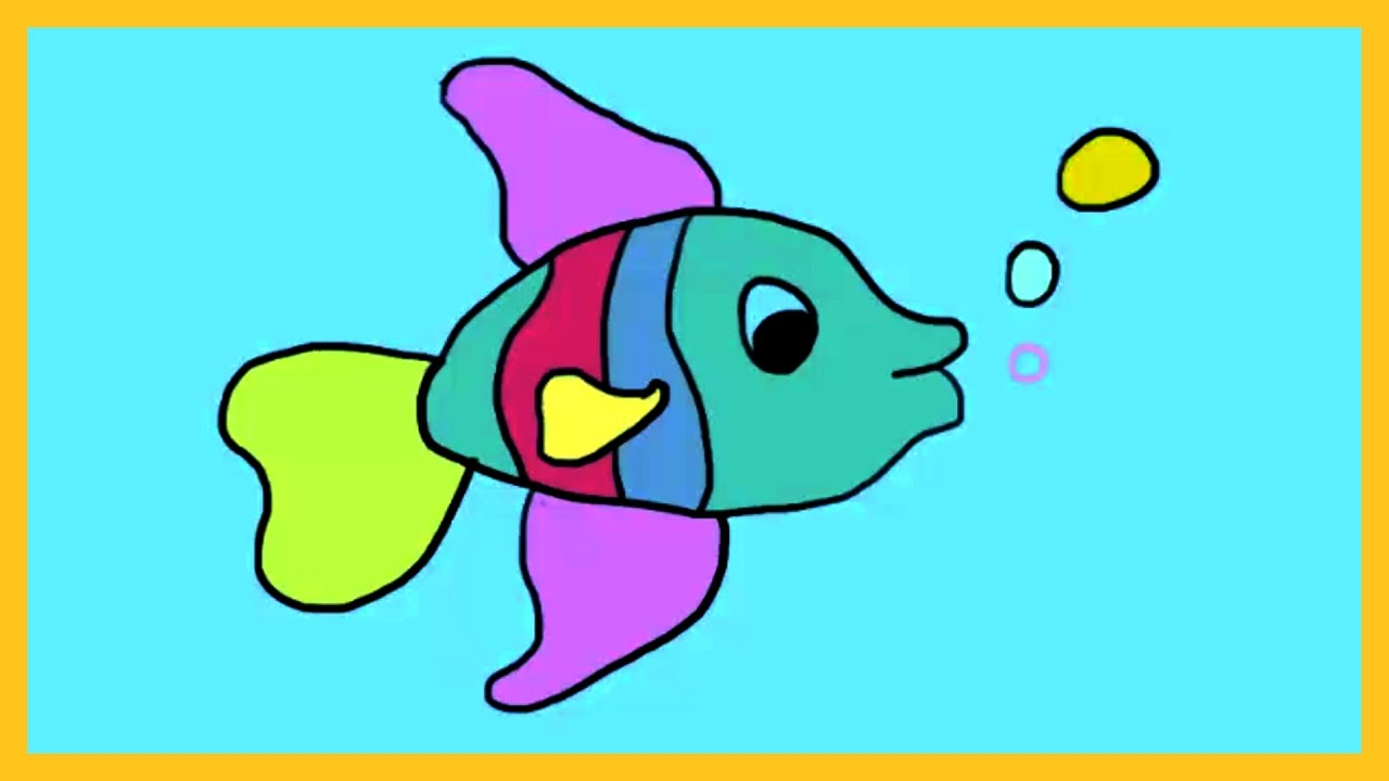 learn colors with fish how to color a fish by silly kids
