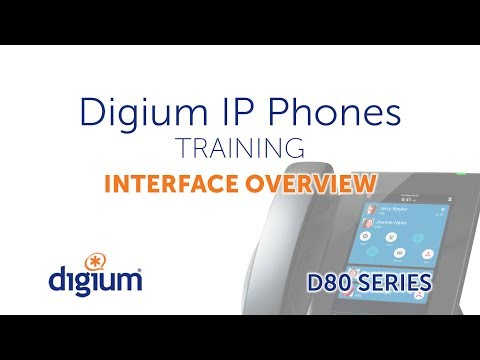 Digium D80 IP Phone Training | Interface Overview