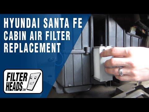 How to Replace Cabin Air Filter Hyundai Santa Fe